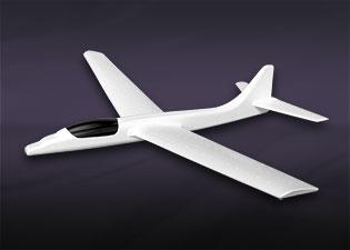 発泡スチロール製グライダー